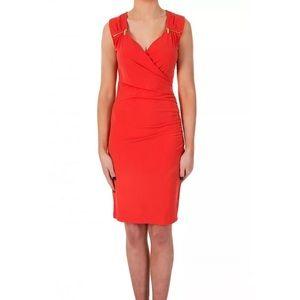 Michael Kors Sweetheart Neckline Wrap Dress XL